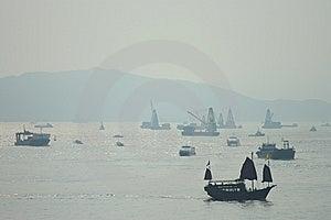 Chinese Boat Stock Photo - Image: 10154290