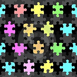 Vibrant Jigsaw Pieces Pattern Stock Photo - Image: 10156150