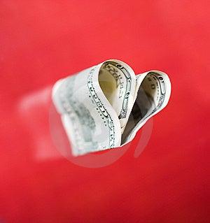 Dollar Hjärta Hundra Fotografering för Bildbyråer - Bild: 10158411