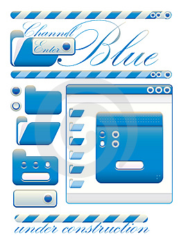 Web Graphic Interface Blue Channel Stock Photography - Image: 10160222