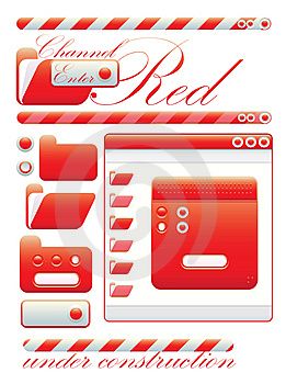 Web Graphic Interface Red Channel Stock Image - Image: 10160251