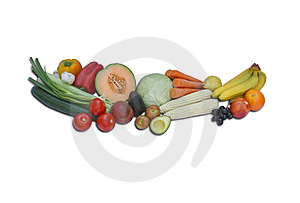 Fresh Fruits And Vegetables Stock Photography - Image: 10160982