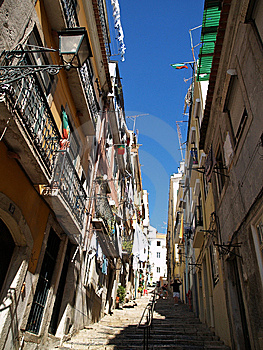 Lisbon Street Royalty Free Stock Photos - Image: 10163378