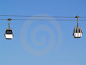 Two Cable-car Cabins Royalty Free Stock Photo - Image: 10164175