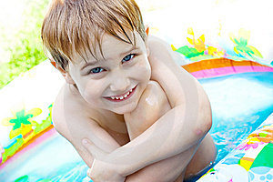 The Boy Bathes Stock Photos - Image: 10166473
