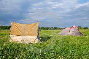 Tourist Tents Royalty Free Stock Image - Image: 10166576