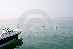 Boat On A Lake Royalty Free Stock Image - Image: 10166586