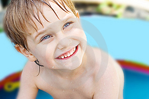 The Boy Bathes Royalty Free Stock Photography - Image: 10166587