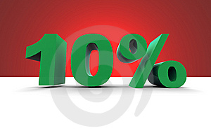 10% With Spotlight Background Royalty Free Stock Photos - Image: 10167548
