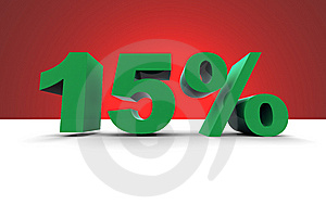 15% With Spotlight Background Royalty Free Stock Photo - Image: 10167555