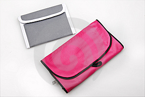 Portable Wallet And Bath Bag. Stock Photography - Image: 10167792