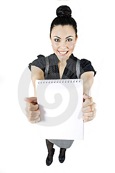 Smiling Woman - Add Text Here Stock Photography - Image: 10167882