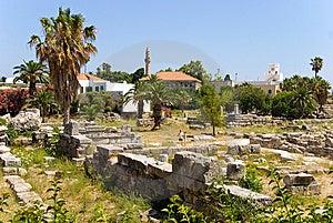 Oud Agora Royalty-vrije Stock Afbeeldingen - Afbeelding: 10168259