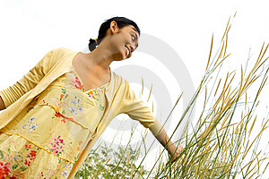 Young Woman Enjoy Outdoor Stock Image - Image: 10169971