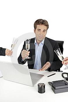 Business Situation - Champagne Royalty Free Stock Image - Image: 10170666