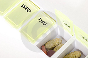 Weekly Pill Organizer Royalty Free Stock Image - Image: 10172016