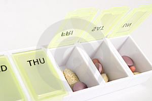 Weekly Pill Organizer Stock Photo - Image: 10172020