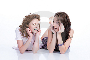 Young Emotional Women Royalty Free Stock Images - Image: 10173179