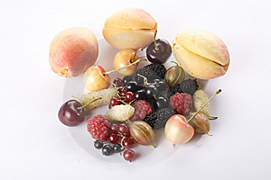 Close Up Of Assorted Summer Berries And Apricots Stock Photos - Image: 10173463