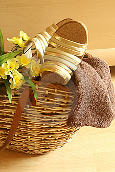Beach Bag With Female Summer Footwear Stock Photo - Image: 10175100