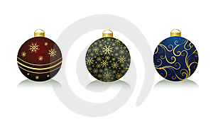 Xmas Balls Stock Photo - Image: 10175430