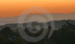 Another View From Cowan Road At Sunset Royalty Free Stock Photos - Image: 10178338
