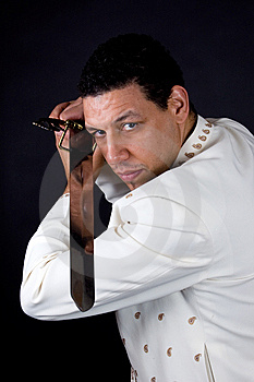 Aruban Algerian Man With Sword Defending Stock Photo - Image: 10179120