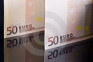 Euro Banknotes Stock Photo - Image: 10180360