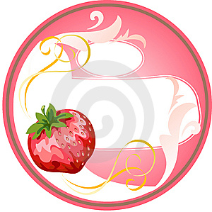 Chircle_strawberry_cream Stock Photos - Image: 10183553