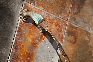 Stone Wall Fountain Abstract Royalty Free Stock Photography - Image: 10184917