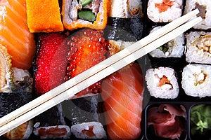 Japanese Traditional Sushi Stock Photo - Image: 10184920