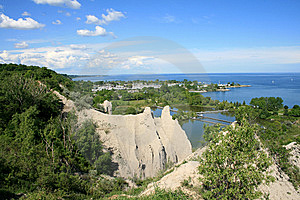 Landscape With Cliffs Stock Image - Image: 10185641