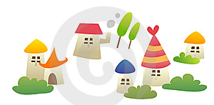 Cartoon House Royalty Free Stock Images - Image: 10186189