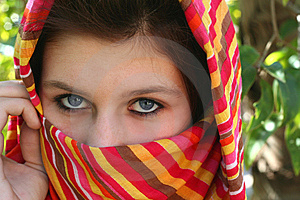 Young Girl With Blue Eyes Royalty Free Stock Photo - Image: 10187325