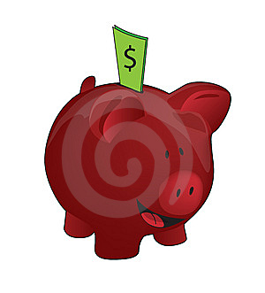 Full Piggy Bank Royalty Free Stock Image - Image: 10188846