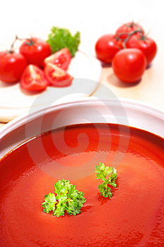 Tomatoes And Parsley Royalty Free Stock Photography - Image: 10189257
