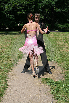 Dancing In A Park Stock Image - Image: 10192061