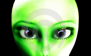 Alien Eyes Stock Photo - Image: 10194840