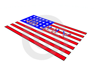 4th July On American Flag Royalty Free Stock Photography - Image: 10194967