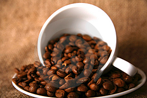 Cup And Beans Of Coffee Stock Photography - Image: 10196772
