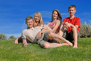 Family Of Four Royalty Free Stock Images - Image: 10197869
