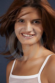 Sensual Girl Smiling Royalty Free Stock Image - Image: 1022006