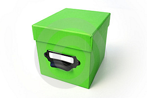 Green Box Free Stock Photography