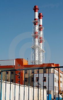 Hitte En Elektrische Centrale Royalty-vrije Stock Afbeelding - Beeld: 1029996
