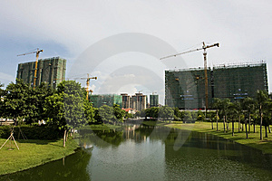 City Under Construction Stock Photo - Image: 10200690
