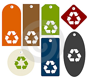 Recycle Tags Royalty Free Stock Photography - Image: 10201617