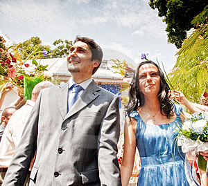 Just Married Happy Couple Outdoor Royalty Free Stock Photo - Image: 10201735