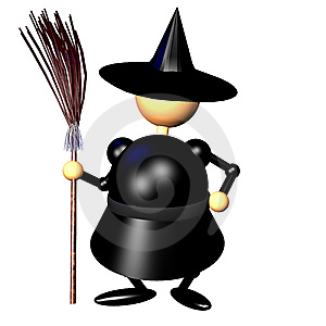 Witch Clipart Stock Photo - Image: 10203210