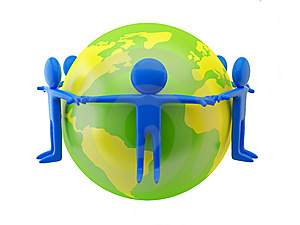 People Near The Earth Royalty Free Stock Photography - Image: 10203777