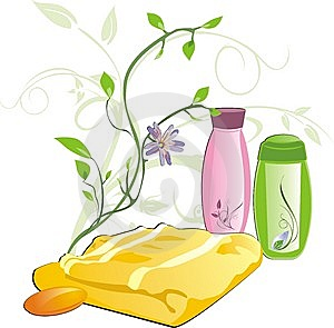 Sprig And Set For Bathing Royalty Free Stock Image - Image: 10204556